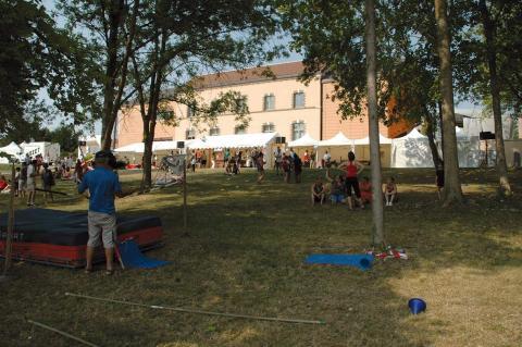 Le Village des sports en pleine activité