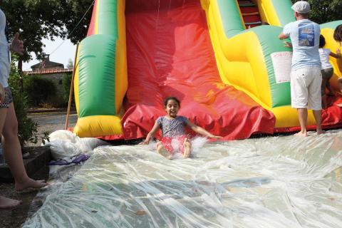 Jeux d'eau nécessaires par temps caniculaire